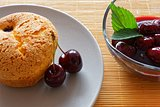 souffle with cherries