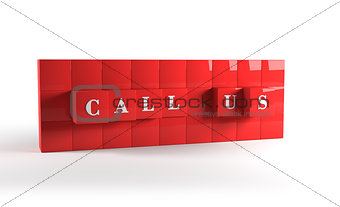Call us red cubes. 3D rendering.