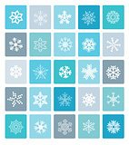 Set of christmas snowflakes icons.