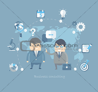 Flat design vector concepts for business.