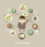 Eco concept, vector.