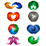 Set of Colored Icons