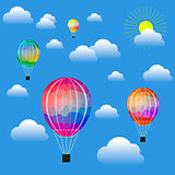 Colored Air Balloons
