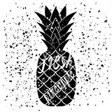 Pineapple Icon Typography Design
