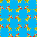 School Bell Seamless Pattern
