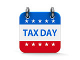 Tax day icon calendar