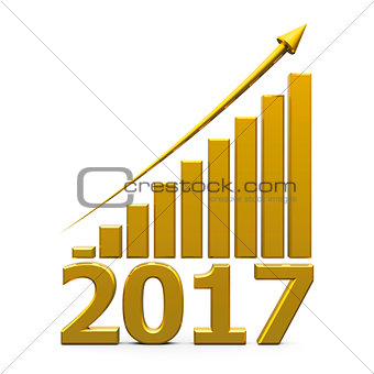 Business graph up with 2017