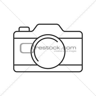 Camera thin line icon