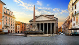 Pantheon and fountain