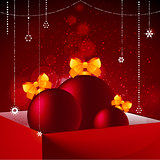 Gift box baubles and Christmas decorations background