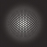 Vector Seamless Halftone Circles Bloat Effect Pattern