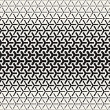Triangular Shapes Halftone Lattice. Vector Seamless Black and White Pattern.