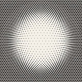 Vector Seamless Halftone Circles Bloat Pattern