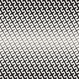 Cross Shapes Halftone Lattice. Vector Seamless Black and White Pattern.