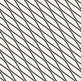 Vector Seamless Black and White Diagonal Wavy Lines