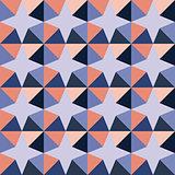 Vector Seamless Geometric Triangle Stars Purple Pink Pattern