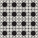 Vector Seamless Black And White Circle Arc Square Pattern