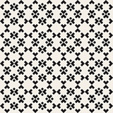 Vector Seamless Black And White Simple Ethnic Square Pattern