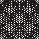 Vector Seamless Black And White Circles Mosaic Pattern