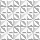 Vector Seamless Black And White Geometric Triangular Square Shaded Pattern
