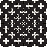 Vector Seamless Black And White Simple Cross Square Pattern