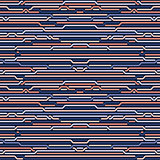 Vector Seamless Rounded Rope Lines Brade Pattern In Blue Navy  Pink
