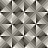 Vector Seamless Black  White Geometric  Square Gradient Diagonals Pattern