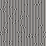Vector Seamless Black  White Rounded Rope Lines Brade Pattern