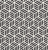 Vector Seamless Black  White Rounded Rectangles Hexagonal Cubic Pattern