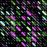 Raster Seamless Parallel Geometric Diagonal Shape in Neon Green And Pink Colors on Black Background