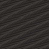 Vector Seamless Black and White Subtle Dotted Lines Wave Pattern