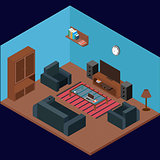 Modern Isometric Room