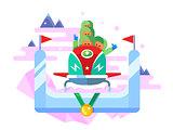 Bobsleigh winter sport