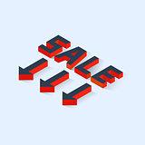 Isometric Sale Icon