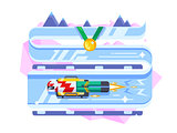 Skeleton winter sports