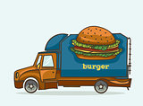 Truck - delivery burgers and fast food.