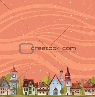 City view landscape. Urban vector