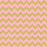 Vector Gold glittering heart seamless pattern