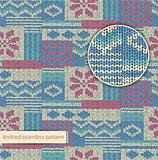 Vector knit seamless pattern