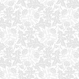 Seamless pattern of stilized leaf and flower.