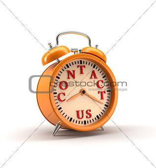 Alarm clock. 3D rendering.