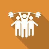People icon, vector illustration.