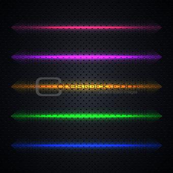 Bright light effects, vector illustration.