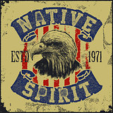 native spirit poster with eagle