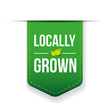 Locally Grown green ribbon