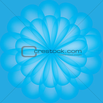 Abstract flower pattern blue color
