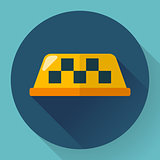 Taxi icon, vector illustration. Flat designed style