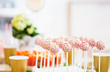 close up of cake pops or lollipops