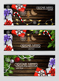 Christmas New Year web banner set