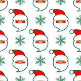 Santa Claus head seamless pattern